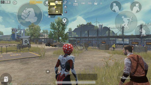 PUBGプレイ中の画面