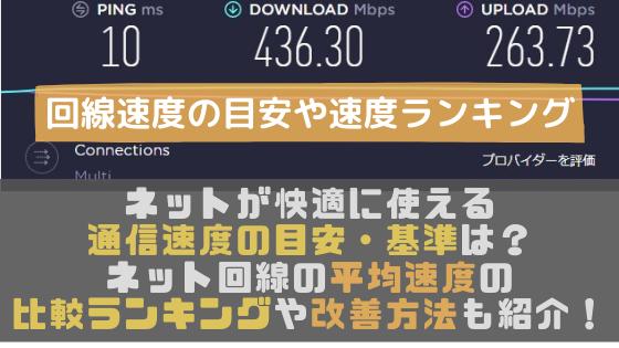 速度 目安 インターネット